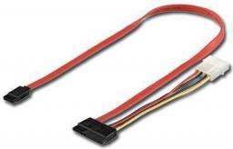 MicroConnect Kabel SATA  15+7pin - Molex 4 pin + Sata 7pin (PI17146)