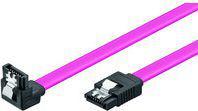 MicroConnect Kabel SATA 50cm, wtyk kątowy, klips (SAT15005A1C)