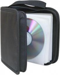 Segregator na 24 szt. CD, tekstylny, czarny, album, zamek błyskawiczny