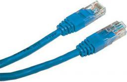 Patchcord UTP, Cat.5e, nieekranowany, 0.25m, niebieski