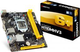 Płyta główna Biostar H110MHV3, H110, DDR3, SATA3, USB 3.0, microATX