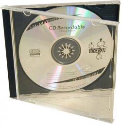 Logo Box na 1 szt. CD, przezroczysty, czarny tray, 10,4 mm, 2-pack