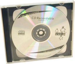 Box na 2 szt. CD, przezroczysty, czarny tray, 10,4 mm