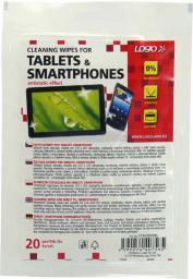 Logo ręczniki/chusteczki, na tablet, smartphone, opakowanie zamykane, 20 szt.
