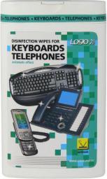 Logo chusteczki jednorazowe, na klawiaturę i telefon, pudełko, 50 szt.