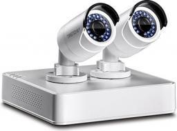 Rejestrator TRENDnet Netzw. Video Rekorder 4 Ch. PoE 1TB HDD 2* IPCam 1,3MP Kit - TV-NVR104K