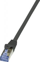 LogiLink CAT7 S/FTP Patchkabel Primeline PIMF czarny 0,50m (CQ4023S)