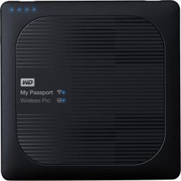 Dysk zewnętrzny Western Digital HDD My Passport Wireless Pro 2 TB Czarny (WDBP2P0020BBK-EESN)