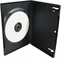 Box na 1 szt. DVD, czarny, 14mm