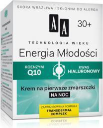 AA AA Technologia Wieku 30+ Energia Młodości Krem wygładzająco-odżywczy na noc 50ml