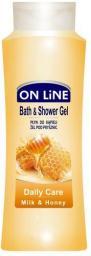 On Line Płyn do kąpieli i Żel pod prysznic 2 w 1 Daily Care mleko i miód750 ml
