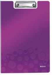 Leitz Podkładka z klipem i okładką, fioletowa (41990062)