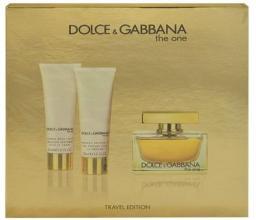 Dolce & Gabbana The One Zestaw dla kobiet EDP 75ml + Balsam do ciała 50ml + Żel pod prysznic 50ml