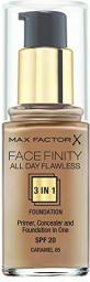 MAX FACTOR Facefinity 3 in1 Podkład 85 Caramel 30ml
