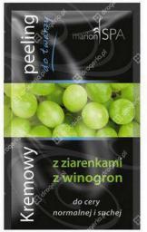 Marion SPA Kremowe Peelingi Kremowy peeling do twarzy z ziarenkami winogron 10ml