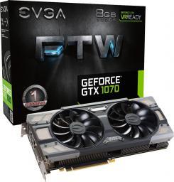 Karta graficzna EVGA GeForce GTX 1070 FTW Gaming ACX 3.0 8GB GDDR5 (256 Bit) HDMI, DVI, 3x DP (08G-P4-6276-KR)