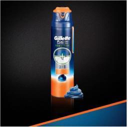 Gillette Żel do golenia Fusion proglide 2 w 1 Sensitive Active 170ml