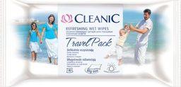 Cleanic Chusteczki nawilżające Travel Aqua 40 szt.
