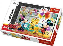 Trefl Puzzle 30el. Myszka Miki Tort urodzinowy (18211)