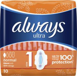 Always Ultra Normal Plus Podpaski Higieniczne 10 szt.