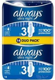 Always Ultra Night Duo 14 szt.
