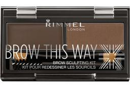 Rimmel  Brow This Way Scuplting Kit nr 3 Dark Brown  2.4g