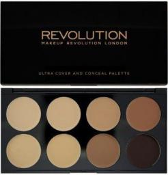 Makeup Revolution Ultra Cover & Conceal Palette Paleta 8 kremowych korektorów Medium Dark 10g
