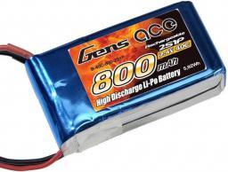 Gens Ace & TATTU 800mAh 7.4V 40C Gens Ace (B-40C-800-2S1P)