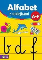 Alfabet z naklejkami A-F