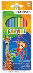 Starpak Kredki 12 kolorów Safari Jumbo trójkątne (355959)
