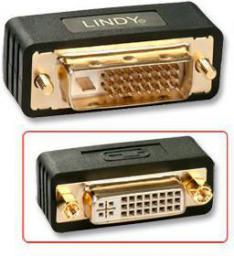 Adapter AV Lindy DVI-D - DVI-I (M/F) Czarny (41098)
