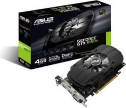 Karta graficzna Asus GeForce GTX 1050 TI 4GB GDDR5 (128 Bit) DVI-D, HDMI, DP, BOX (PH-GTX1050TI-4G)