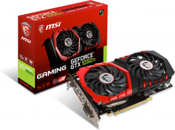 Karta graficzna MSI GeForce GTX 1050 Ti GAMING 4GB GDDR5 (128 Bit) HDMI, DP, DVI-D, BOX