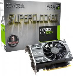 Karta graficzna EVGA GeForce GTX 1050 Ti SC GAMING 4GB GDDR5 (128 Bit) DP, HDMI, DVI-D, BOX (04G-P4-6253-KR)