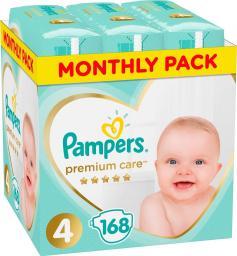 Pampers Pieluchy Premium Care Rozmiar 4 (Maxi), 8–14kg, 168 szt.