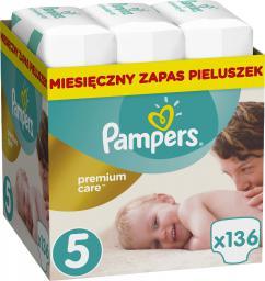 Pampers Premium Care Rozmiar 5 (Junior), 11–18kg, 136 Pieluszek