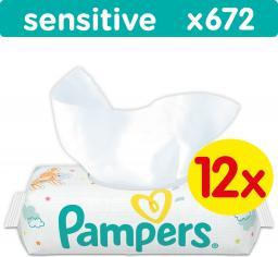 Pampers chusteczki nawilżane Sensitive 12x56 szt.