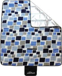 Axer Koc piknikowy z izolacją ALU niebiesko-beżowy 150x130cm (A20227)