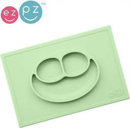 Ezpz EZPZ  Silikonowy  talerzyk  z  podkładką  2w1  Happy Mat pastelowa zieleń