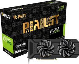 Karta graficzna Palit GeForce GTX 1070 Ti Dual 8GB GDDR5 (256 bit) DVI-D, HDMI, 3xDP, BOX (NE5107T015P2-1043D)