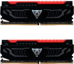 Pamięć Patriot Viper LED, DDR4, 16 GB,2666MHz, CL15 (VIPER LED RED DDR4 16GB 2666MHz CL15 DUAL KIT (2 x 8GB))