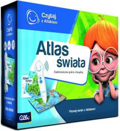 Albi Czytaj z Albikiem  Zestaw Pióro + Atlas świata