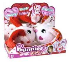 Tm Toys BUNNIES Love pluszowy króliczek z magnesem 2-pak (096714)