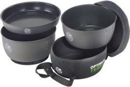 Optimus Terra Naczynia kempingowe Terra HE Cook Set Non-Stick 3-częściowy szary (8019750)