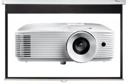 """Projektor Optoma HD27e DLP, 1080p + ekran 92"""" DS-9092PWC (E1P0A0UWE1Z1+ DS-9092PWC)"""