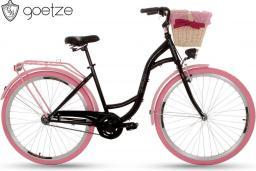 Goetze Rower miejski Colours 28 czarno-różowy