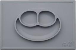 Ezpz Silikonowy talerzyk z podkładką 2w1 szary (EUHMA005)