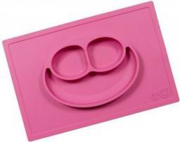 Ezpz Silikonowy talerzyk z podkładką 2w1 różowy (EUHMP002)