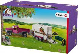 Figurka Schleich Półciężarówka z koniem i przyczepą (42346)
