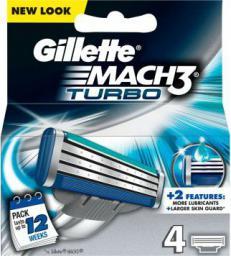 Gillette Mach 3 Turbo Manual HD Wkład do maszynki do golenia 4 szt